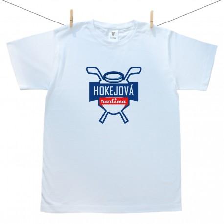 Pánske tričko s krátkym rukávom Hokejová rodina