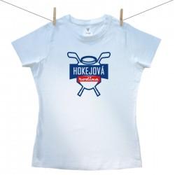 Dámske tričko s krátkym rukávom Hokejová rodina