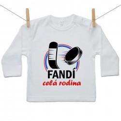 Tričko s dlhým rukávom Fandí celá rodina