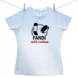 Dámske tričko s krátkym rukávom Fandí celá rodina