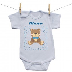 Body s krátkym rukávom s menom dieťaťa Medvedík Chlapec