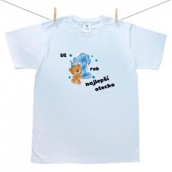 Pánske tričko s krátkym rukávom Už 1 rok najlepší otecko chlapčeka