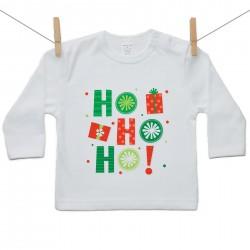 Tričko s dlhým rukávom HO HO HO!