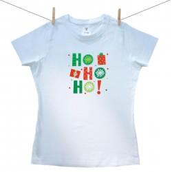 Dámske tričko s krátkym rukávom HO HO HO!