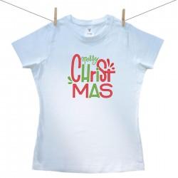 Dámske tričko s krátkym rukávom Merry Christmas
