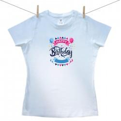 Dámske tričko s krátkym rukávom Happy birthday