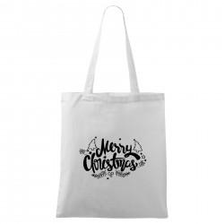 Biela taška Merry Christmas