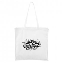 Biela Maxi taška Merry Christmas
