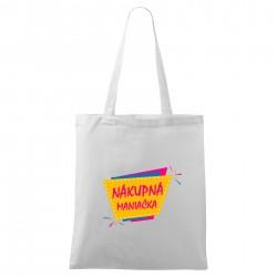 Biela taška Nákupná maniačka