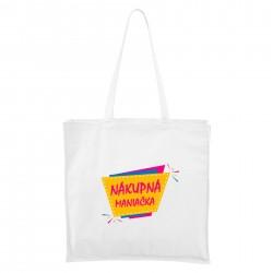 Biela Maxi taška Nákupná maniačka
