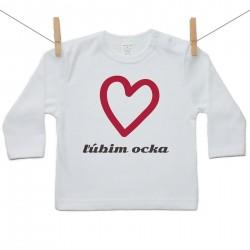 Tričko s dlhým rukávom Ľúbim ocka