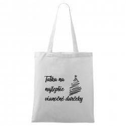 Biela taška Na najlepšie vianočné darčeky