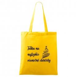 Žltá taška Na najlepšie vianočné darčeky