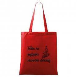 Červená taška Na najlepšie vianočné darčeky