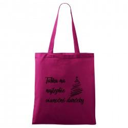 Fialová taška Na najlepšie vianočné darčeky