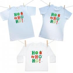 Rodinná sada (tričko s dlhým rukávom) HO HO HO!