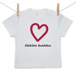 Tričko s krátkym rukávom Ľúbim babku