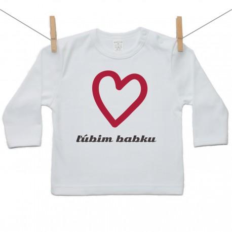 Tričko s dlhým rukávom Ľúbim babku