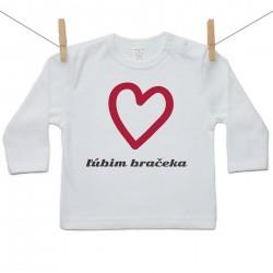 Tričko s dlhým rukávom Ľúbim bračeka
