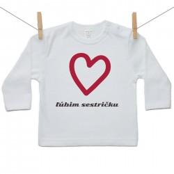 Tričko s dlhým rukávom Ľúbim sestričku