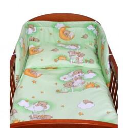 p3-dielne posteľné obliečky New Baby 100/135 cm zelené s medvedíkom/p