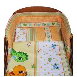 p3-dielne posteľné obliečky New Baby 100/135 cm oranžové s dinom/p