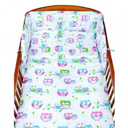 2-dielne posteľné obliečky New Baby 100/135 cm biele so sovou