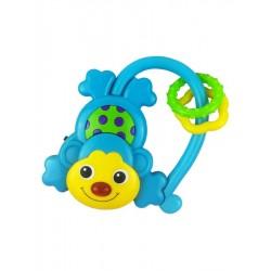 Detská hrkálka so zvukom Baby Mix Opička modrá