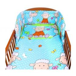 2-dielne posteľné obliečky New Baby 90/120 cm tyrkysové s ovečkou