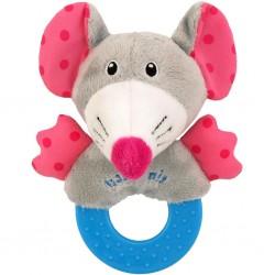 Detská plyšová hrkálka Baby Mix myška
