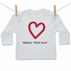 Tričko s dlhým rukávom Ľúbim s vlastným textom