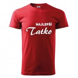 Červené pánske tričko Najlepší tatko