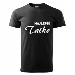 Čierné pánske tričko Najlepší tatko