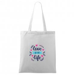 Biela taška Love of my life