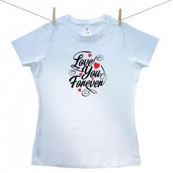Dámske tričko s krátkym rukávom Love you forever
