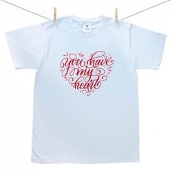 Pánske tričko s krátkym rukávom You have my heart