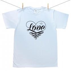 Pánske tričko s krátkym rukávom Love