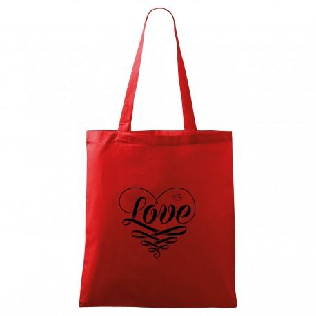 Červená taška Love
