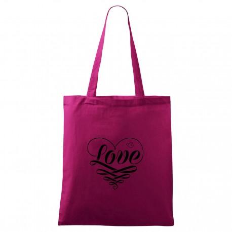 Fialová taška Love