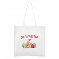 Biela Maxi taška Mamkin tím