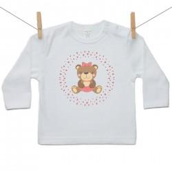 Tričko s dlhým rukávom Medvedík Dievča