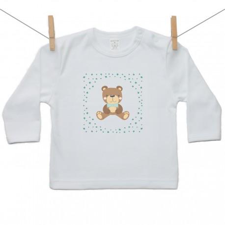 Tričko s dlhým rukávom Medvedík Chlapec