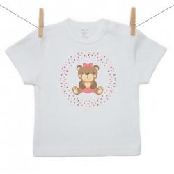 Tričko s krátkym rukávom Medvedík Dievča