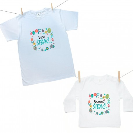 Rodinná sada (tričko s dlhým rukávom) Najmenší a Veľký šibač
